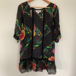 Anthro Moulinette Soeurs Silk Sheer Tunic • Med